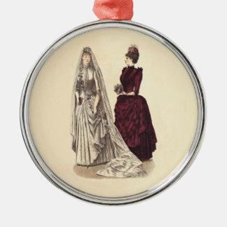 Novias y dama de honor nupciales del fiesta del vi ornamentos de navidad