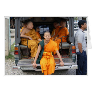 Novice Monks Greeting Card