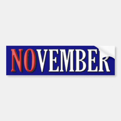 Noviembre Etiqueta De Parachoque