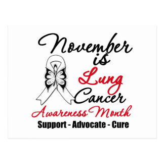 Noviembre es mes de la conciencia del cáncer de tarjeta postal