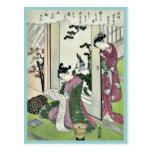 Noviembre por Suzuki, Harunobu Ukiyoe Tarjeta Postal