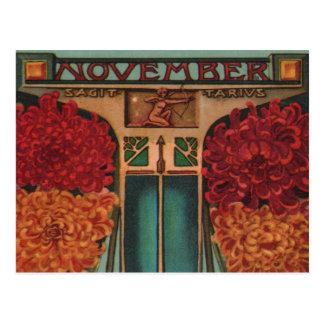Noviembre - sagitario tarjetas postales