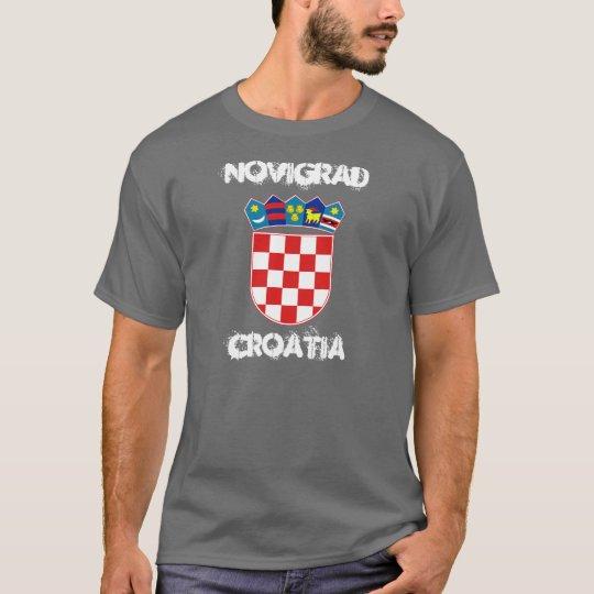 Novigrad, Croatia with coat of arms T-Shirt