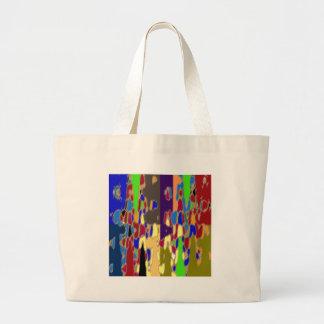 NOVINO Abstract Art: Alien Galactic Show Pattern Jumbo Tote Bag