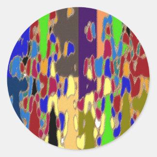 NOVINO Abstract Art: Alien Galactic Show Pattern Sticker