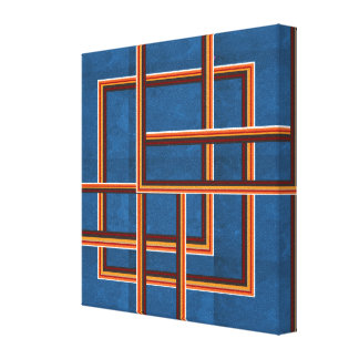 NOVINO Abstract Graphics for Hallways n  Corridors Canvas Print