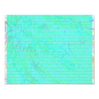 NOVINO Anns Blue Z Planet Dots 4.25x5.5 Paper Invitation Card