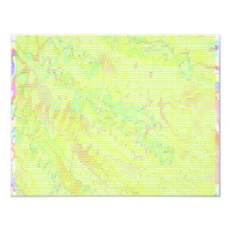 NOVINO Anns Green Z Planet Dots 4.25x5.5 Paper Invitation Card