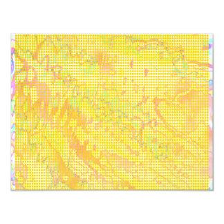 NOVINO Anns Yellow Gold Dust Z Planet Dots 4.25x5.5 Paper Invitation Card
