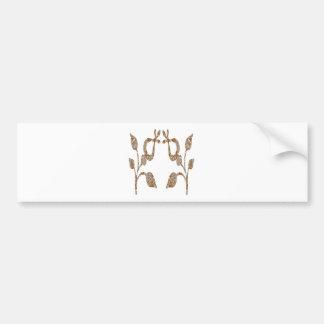 NOVINO Artist Created Sparkling Golden Jewels Bumper Sticker