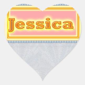 NOVINO Artistic Star Text Heart Sticker