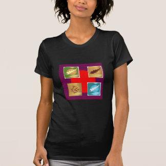 NOVINO Bianca Squares Rounds NumberOne T-Shirt