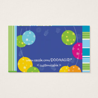 NOVINO : BLUE BALLOONS EVENT MANAGEMENT PRINT BUSINESS CARD