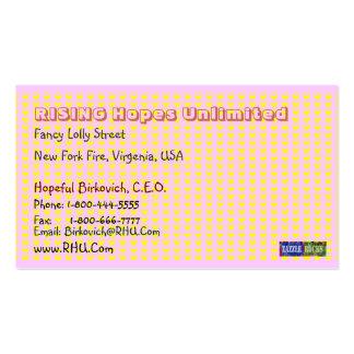 NOVINO Blue Pink Gold Squares Craftwork 2 Business Card Templates