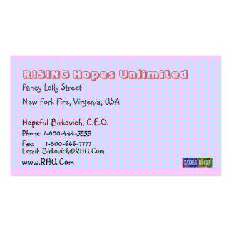 NOVINO Blue Pink Squares Biscard Craftwork 2 Business Card