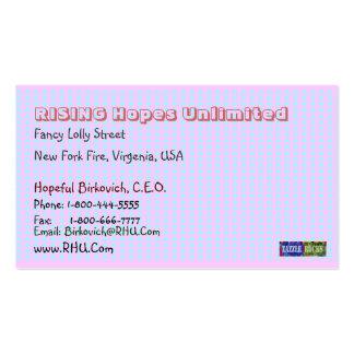 NOVINO Blue Pink Squares Biscard Craftwork Business Card Templates