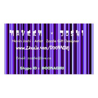 NOVINO Blue Shining Stripes - Stand Apart impact Business Card