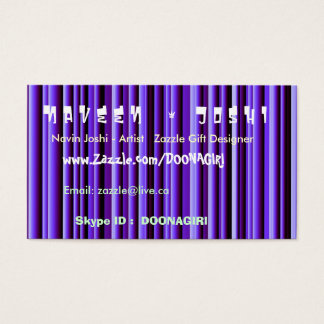NOVINO Blue Shining Stripes - Stand Apart impact Business Card