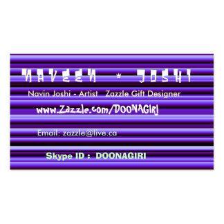 NOVINO Blue Shining Tubes - Stand Apart impact Business Card