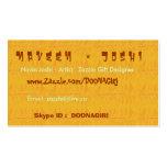 NOVINO Card Templates - Florida Orange Sun Shine Business Cards