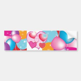 NOVINO Celeberations Baloons Bumper Sticker