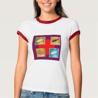 NOVINO Chulbuli Squares Rounds NumberOne T-Shirt