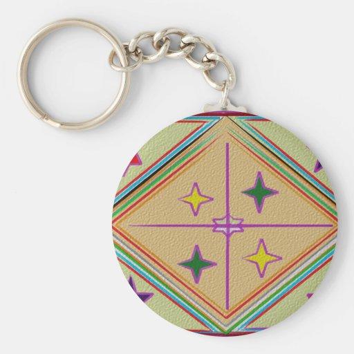 NOVINO Diamond n Stars : Healing Series Basic Round Button Keychain