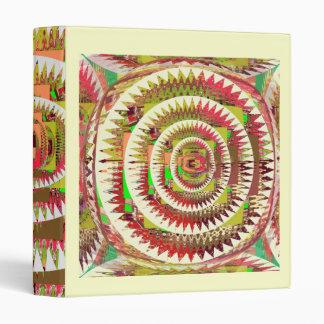 NOVINO Dimond Floral Rainbow Pattern 3 Ring Binder