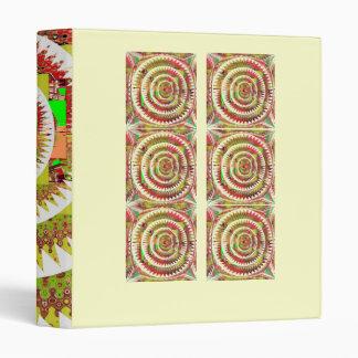 NOVINO Dimond Floral Rainbow Pattern 6 3 Ring Binder