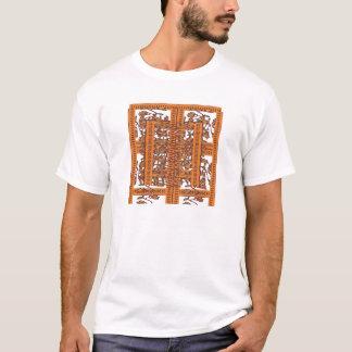 NOVINO Floral Border Pattern T-Shirt