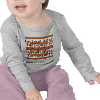 NOVINO Floral Border Pattern T-shirts