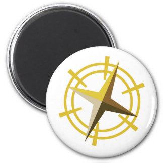 NOVINO Gold Star Drive Wheel 2 Inch Round Magnet