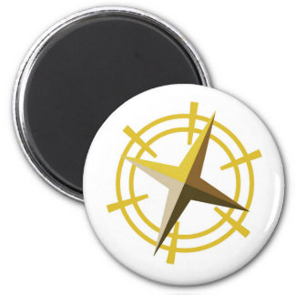 NOVINO Gold Star Drive Wheel Fridge Magnets
