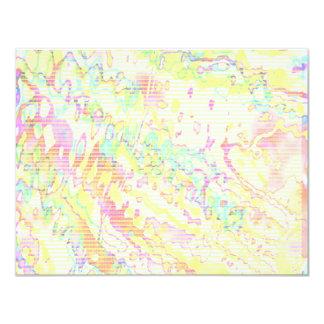 NOVINO Gold Z Planet Dots 4.25x5.5 Paper Invitation Card