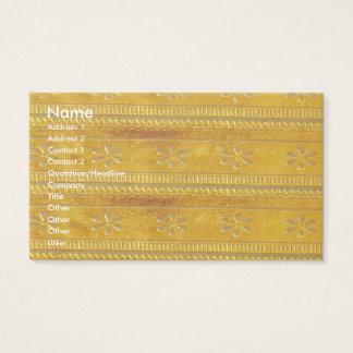 NOVINO Goodluck Jewel golden Unique Shades Texture Business Card