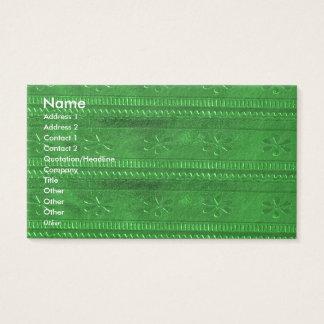 NOVINO Goodluck Jewel Green Unique Shades Texture Business Card
