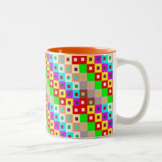 NOVINO HAPPY Original Check Stripe Squared Art Mugs