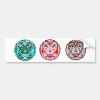 NOVINO Heart Chakra -  Artistic Presentation Bumper Sticker