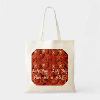 NOVINO Lady Bug Wants a Hug Budget Tote Bag
