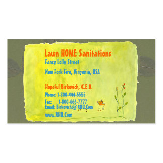 NOVINO : LAWN HOME SANITATION SERVICES BUSINESS CARD