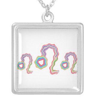 NOVINO Leo Star Family - Fine Tatoo Art Square Pendant Necklace