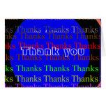 NOVINO Manyways a gracias - gracias Tarjeta De Felicitación
