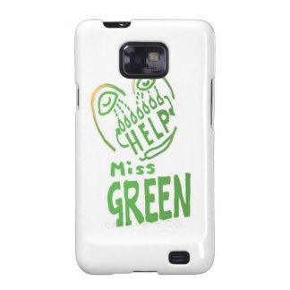 NOVINO Miss Green needs help Galaxy S2 Cases