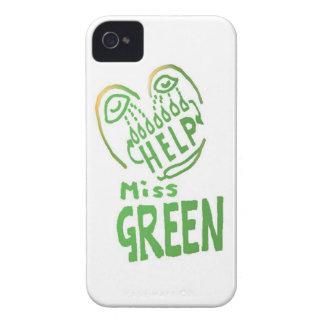 NOVINO Miss Green needs help iPhone 4 Case