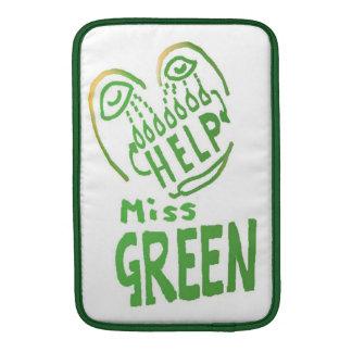 NOVINO Miss Green needs help MacBook Air Sleeve
