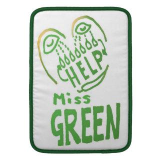 NOVINO Miss Green needs help MacBook Air Sleeves