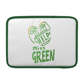 NOVINO Miss Green needs help MacBook Sleeves