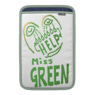 NOVINO Miss Green needs help Sleeve For MacBook Air