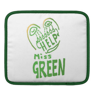 NOVINO Miss Green needs help Sleeves For iPads