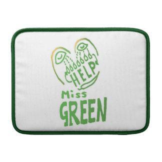 NOVINO Miss Green needs help MacBook Sleeve
